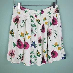 Old Navy Smocked Gauze Floral Skirt Size Large